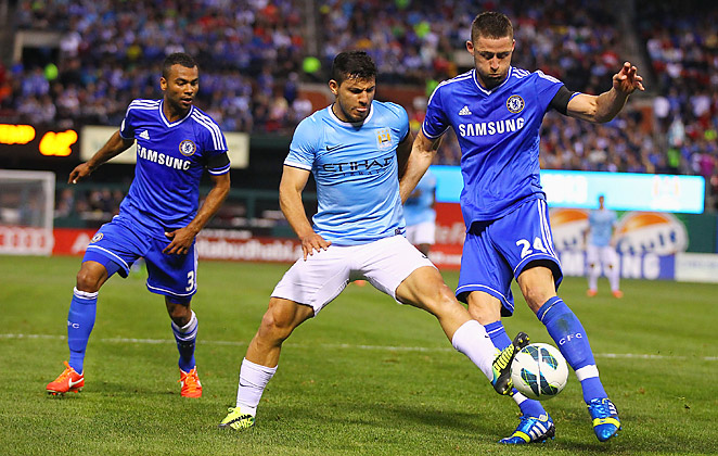 Manchester City and Chelsea played the first of a two-game series in St. Louis on Thursday night.