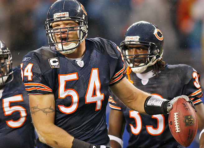 Brian Urlacher was known for his rangy, athletic ability to make plays all over the field.