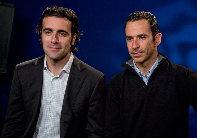 Dario Franchitti (left) and Helio Castroneves each stand at three victories in the Indianapolis 500.