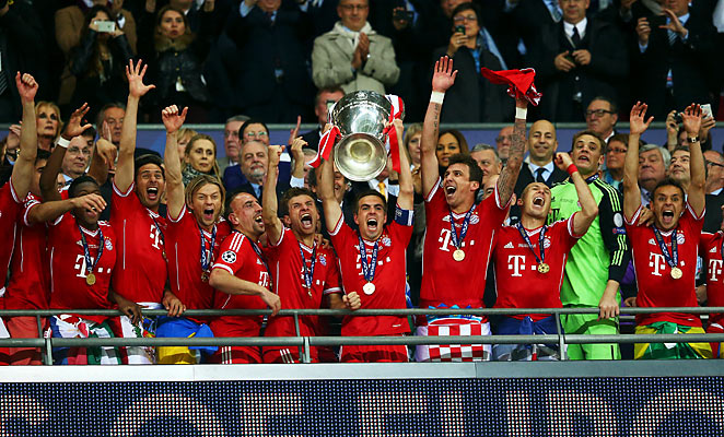 Bayern Munich captured their fifth European title with goals from Arjen Robben and Mario Mandzukic.