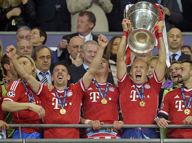Bayern Munich lifted the Champions League trophy after runner-up finishes in 2010 and 2012.