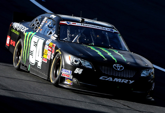 Kyle Busch won the Nationwide race at Charlotte Saturday but hasn't won a Sprint Cup race there.