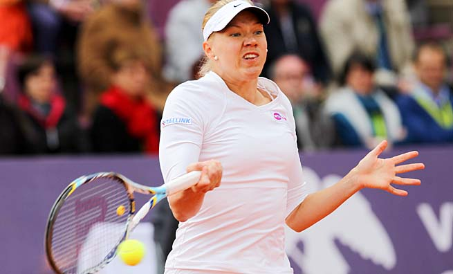 Estonia's Kaia Kanepi made the French Open quarterfinals last year.