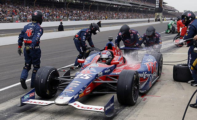 Marco Andretti was in contention all day but couldn't end his family's long drought at winning at Indy.