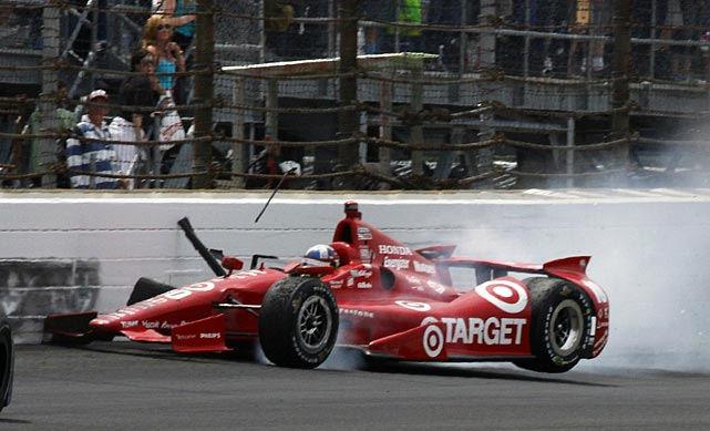 This crash by Dario Franchitti brought out the final caution.