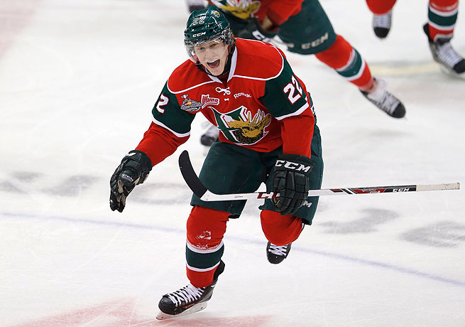 Nathan MacKinnon had a hat trick for the Mooseheads in their win over the Portland Winterhawks.