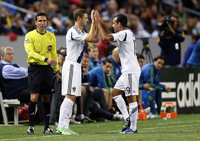 Robbie Rogers made his debut for the LA Galaxy when he subbed in for Juninho in the 77th minute.