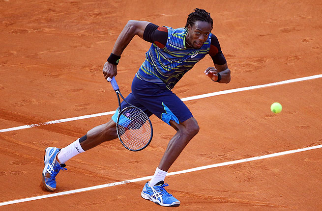 Monfils, a former top-10 player mounting a comeback from a right knee injury, hit 26 aces and was broken only once.
