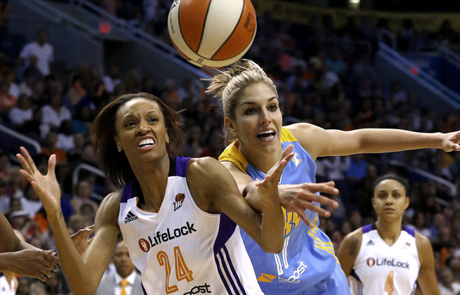 Elena Delle Donne finished with 22 points, outplaying No. 1 pick Brittney Griner, who had 16.