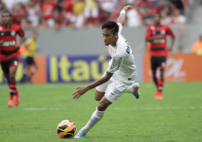 Neymar played in his last game for Santos against Flamengo on Sunday.