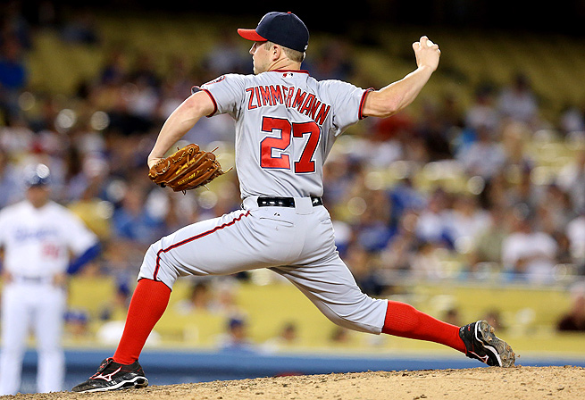 Jordan Zimmermann is walking just 1.1 batters per nine innings, which is third-best in the league.