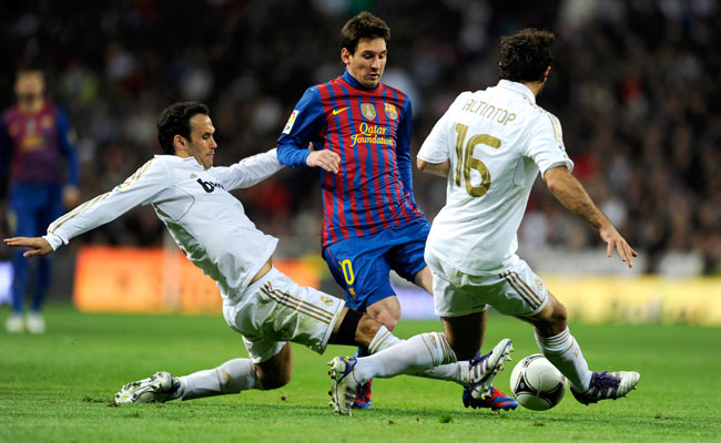 Portuguese defender Ricardo Carvalho (left) joined Real Madrid in 2010.