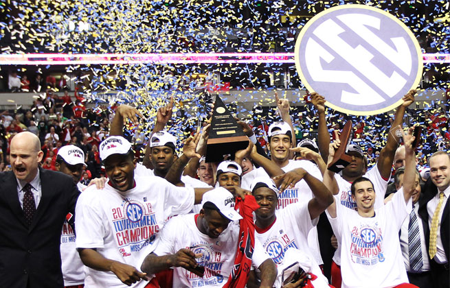 The SEC basketball tournament was held in Nashville, Tenn., in 2013, where Ole Miss won the title.