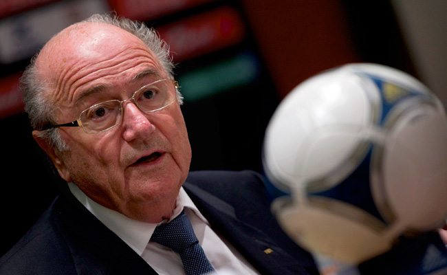 FIFA president Sepp Blatter has avoided answering questions about his salary or the bonuses he earns.