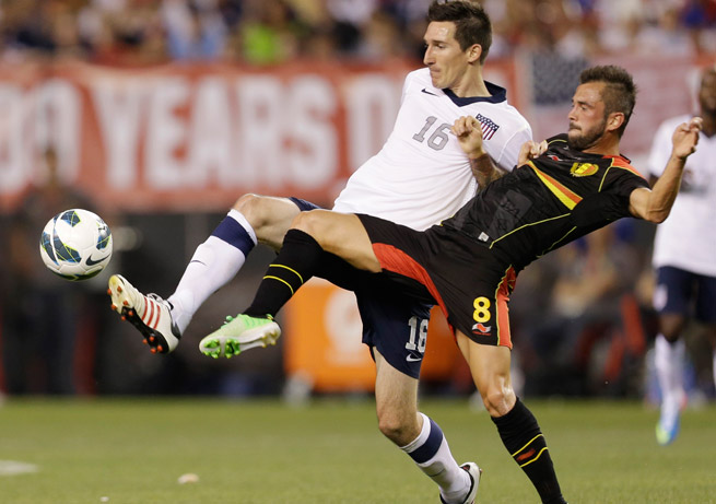Sacha Kljestan had a mostly forgettable game in midfield in the U.S.'s friendly loss to Belgium.