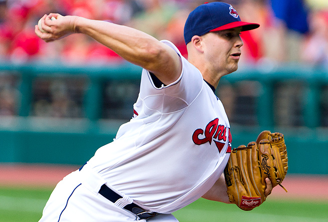 Justin Masterson is throwing his slider a career high 26.6 percent of the time, resulting in more K's.