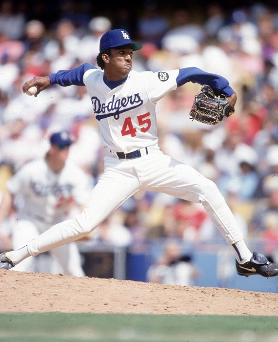 Pedro Martinez made only two appearances during the 1992 season, and the second was his first big league start -- a strong outing that ended in a loss on a terrible Dodgers team. Martinez would work the next year predominantly in relief before the Dodgers shopped him to the Expos where he would permanently become a starter, a role in which he won three Cy Young awards.