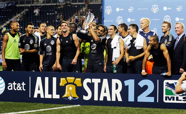 The 2012 MLS All-Stars defeated Chelsea 3-2 in Philadelphia.