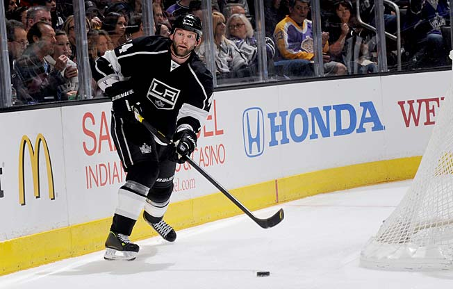 Since arriving from Buffalo, Robyn Regehr has given the Kings a physical blueline presence.