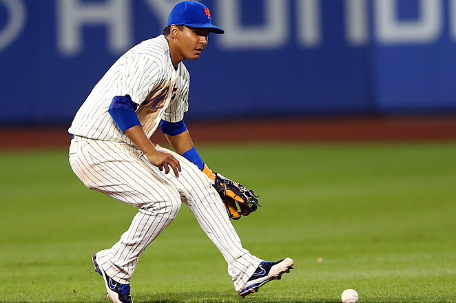 Struggling shortstop Tejada was injured against the Yankees and will be replaced by Omar Quintanilla.