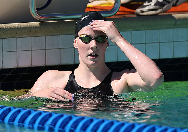 Missy Franklin topped the podium in the 200 freestyle and 200 backstroke at the Santa Clara Grand Prix.