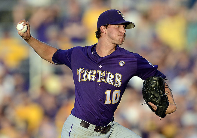 Aaron Nola settled down after a rocky first inning to notch a victory against Sam Houston State.