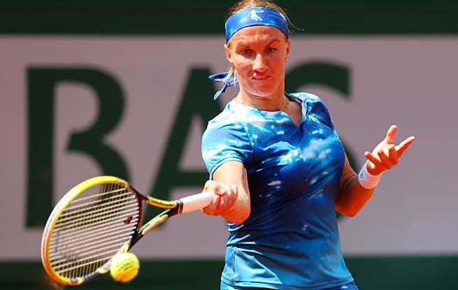 Two-time major champion Svetlana Kuznetsova reached her second straight major quarterfinal.