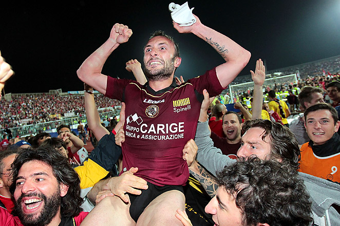 AS Livorno joins Sassuolo and Hellas Verona in a promotion from Italy's Serie B to Serie A.