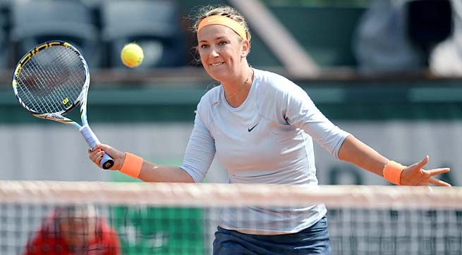 No. 3 Victoria Azarenka will face the Bethanie Mattek-Sands-Maria Kirilenko winner in the quarterfinals.