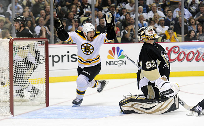 Goalie Tomas Vokoun wasn't particularly solid in Game 1, but neither was the Penguins' defense.