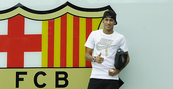 Brazilian sensation Neymar will officially join Barcelona after passing his required medical exams.