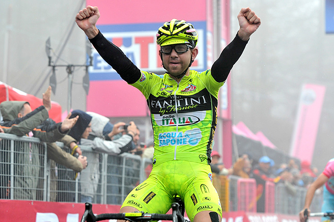Italy's Mauro Santambrogio won the 14th stage of this year's Giro d'Italia, but may be stripped of that victory.