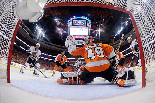 Philadelphia's eternal quest for a bona-fide cornerstone goaltender continues to this day, but in 2010, the Flyers were able to reach the Stanley Cup Final with this 29-year-old journeyman they claimed on waivers in December 2009. Leighton replaced the injured Brian Boucher in the Eastern Conference semi-final vs. Boston and went on to post three shutouts of Montreal in the conference finals. Though the Flyers fell to Chicago in six games in the final, Leighton ended the postseason a more than respectable 8-3 with a 2.46 GAA, .916 saves percentage and those three shutouts in 14 appearances.