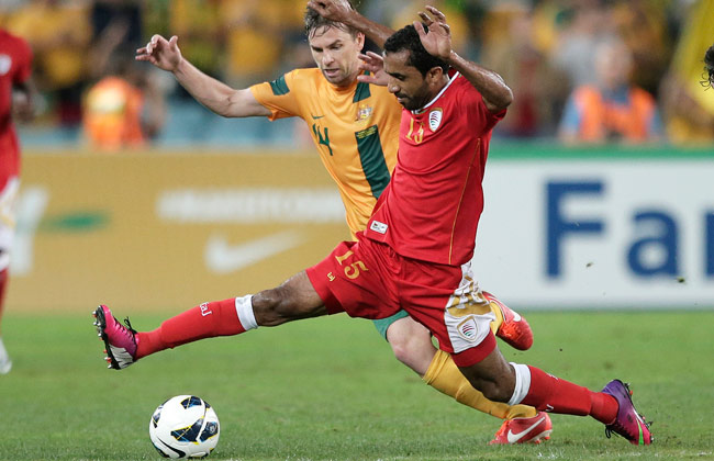 Ismail al-Ajmi, shown here during a March qualifier against Australia, scored against Iraq on Tuesday.