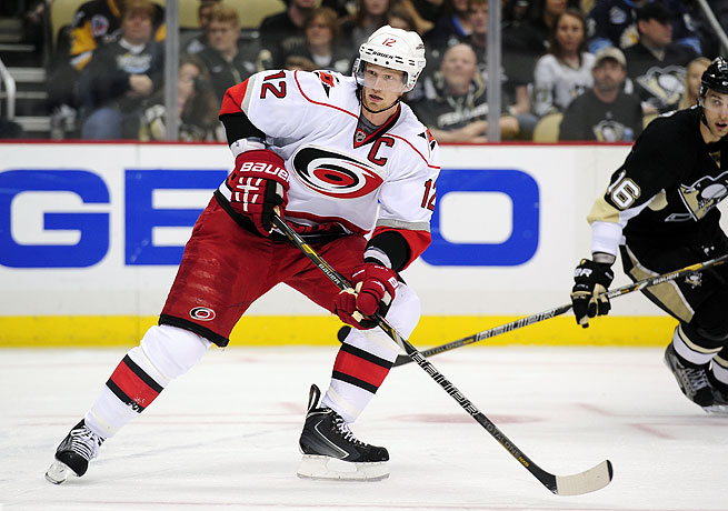 Eric Staal was sixth in the NHL during the 2012-13 season with 53 points.