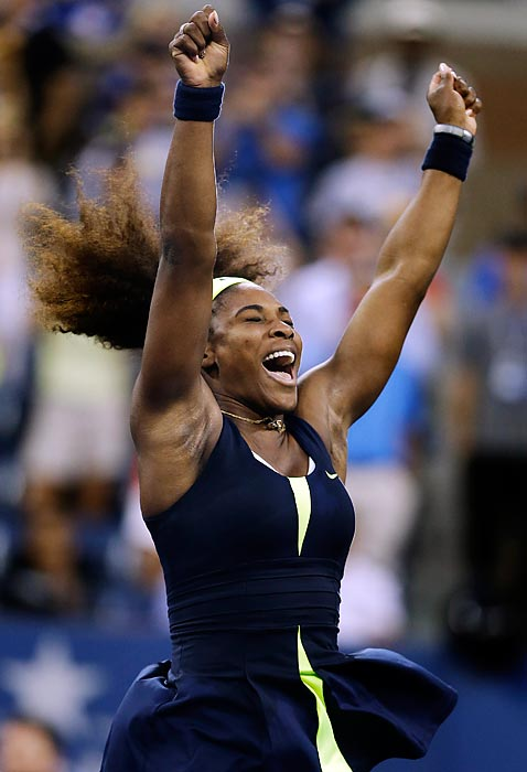 Two points from defeat in the Open final, Serena regained her composure to come back and win the last four games, beating No. 1-ranked Victoria Azarenka 6-2, 2-6, 7-5 for her fourth U.S. Open title and 15th Grand Slam title overall.