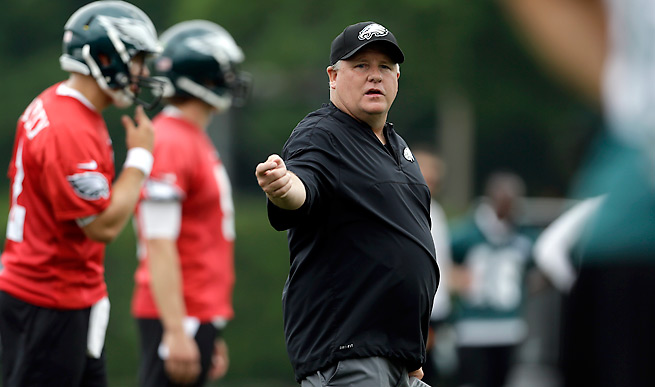Chip Kelly had a 46-7 record in four seasons at Oregon before taking over the Eagles in January.