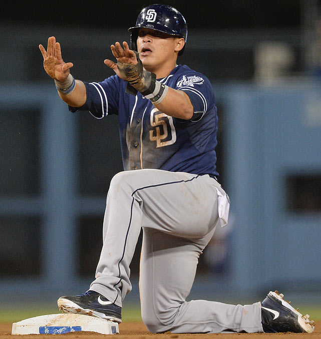 A Rule 5 pick plucked off the Rockies' roster in December 2008, Cabrera served as the Padres' regular shortstop in 2009, then bounced back and forth between the majors and minors before reemerging last year. Though he hit just .246/.324/.324 in 115 games, he led the NL with 44 steals in 48 attempts. In February, he was among the third wave of players named by ESPN's <italics>Outside the Lines</italics> in late February, but played well enough to make the NL All-Star team and has hit .283/.355/.381 with a league-high 37 steals in 49 attempts thus far.