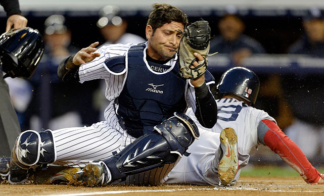 Cervelli saw considerable time for the Yankees from 2009 through 2011, making 80 starts during the middle year, but poor defense forced him to the minors last year, and he played in just three games with the Yankees. Cervelli began the year sharing catching duties with Chris Stewart and hit .269/.377/.500 in 61 PA while showing off improved form behind the plate. Alas, a foul tip fractured his right hand in late April and required surgery, and between a stress reaction in his elbow and ongoing pain in his right middle finger (the one most affected by the break), he has yet to return to action, to the point that his season was already in jeopardy.