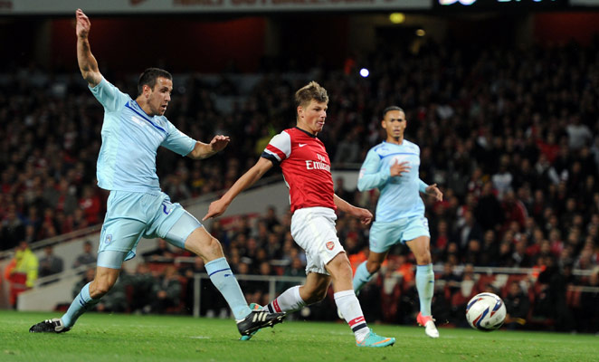 Andrei Arshavin scored his last goal for Arsenal during a Capital One Cup match in September 2012.