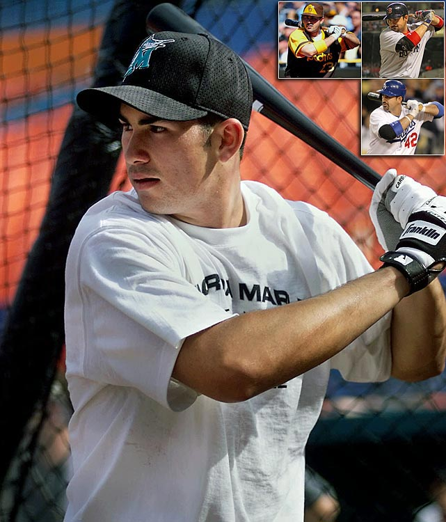 <bold>First baseman, Eastlake High </bold> Adrian Gonzalez went first overall to the Marlins, but after the slugging first baseman suffered a wrist injury, Florida flipped him to Texas in a deal for Ugueth Urbina. Gonzalez never amounted to much with the Rangers and was traded to San Diego for Chris Young and Terrmel Sledge. Even though the Padres play in one of the worst hitters' park in baseball (PETCO Park), Gonzalez hit .288 with 161 home runs in his five seasons there. Gonzalez thrived in 2011, his first season with the Red Sox, when he hit .338 with 27 home runs. He's currently enjoying a resurgent season with the Dodgers, batting .269 with 12 home runs and 37 RBI in his first 57 games.