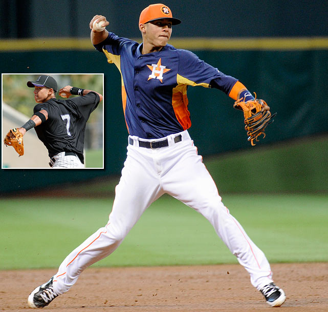 <bold>Shortstop, Puerto Rico Baseball Academy </bold> The Astros selected 17-year-old shortstop Carlos Correa, making him the highest selection ever to come from Puerto Rico. Correa has an incredibly strong arm and terrific instincts defensively, and the Astros might have found their shortstop of the future. He bested catcher Ramon Castro, who went No. 17 to Houston in 1994, as the highest-drafted Puerto Rican player. Correa hit .320 with nine homers and 86 RBI in 117 games in Single-A ball last season.