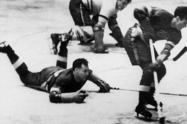 """Fresh out of the IHL, two-way winger Modere """"Mud"""" Bruneteau skated in 24 regular-season games for the Wings, scoring a mere two goals, and then earned himself a place in hockey legend in the playoffs. In Game 1 of Detroit's semi-final series against the Montreal Maroons, Bruneteau ended the longest playoff match in NHL history by scoring at 16:30 of the sixth overtime period. The Wings went on to win the Stanley Cup and Bruneteau's famous tally launched his solid, productive NHL career that lasted 11 seasons and included another Cup in 1943."""