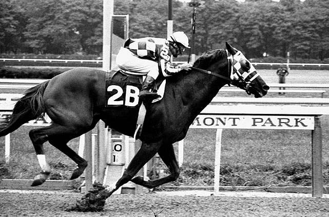 Secretariat's time of 2:24 still stands as the fastest 1½ miles on dirt at Belmont Park.