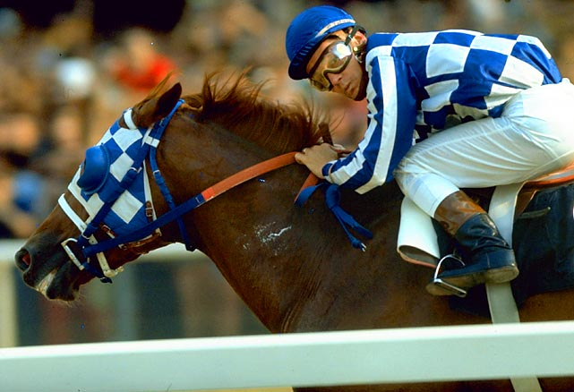 Forty years ago this weekend, on June 9, 1973, Secretariat (and jockey Ron Turcotte) won horse racing's Triple Crown by winning the Belmont Stakes. Only two horses have duplicated that feat since (Seattle Slew in '77) and Affirmed in '78). Here are some photos of Secretariat from his historic year.