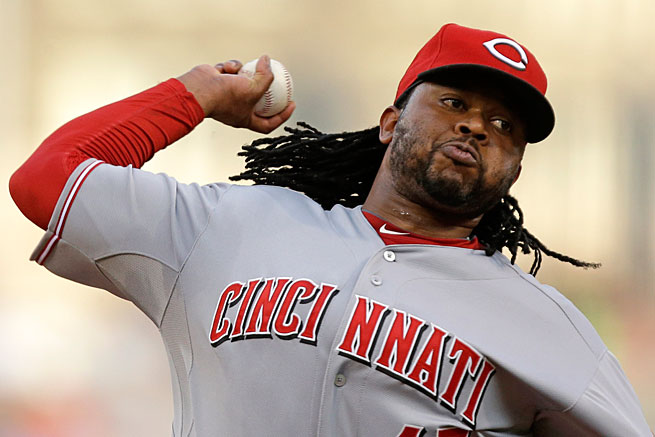 Johnny Cueto was also on the DL from April 15 to May 19 with a strained muscle by his shoulder.