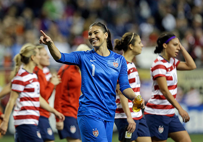 Hope Solo won a gold medal last year at the London Olympics with the U.S. women's national team.