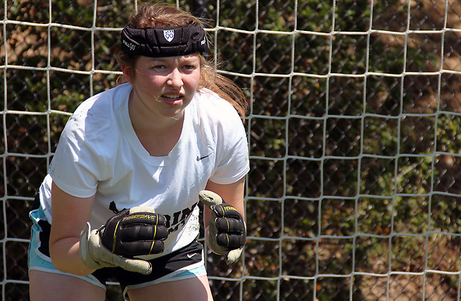 Sammy Barish, 17, has suffered multiple concussions and wears special headgear to help protect her head from further trauma.