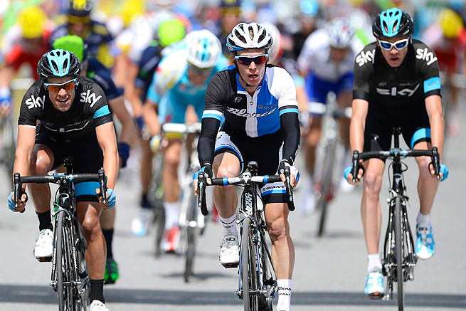 Christopher Froome (right) captured his first career stage victory in the Criterium du Dauphine Libere.