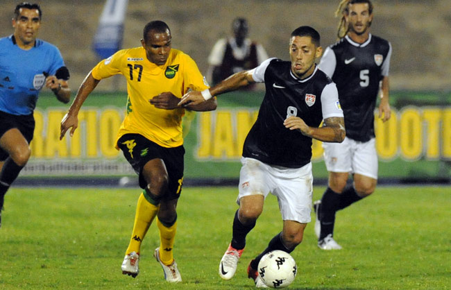 Clint Dempsey scored the opening goal in Kingston last September, but the U.S. lost the game, 2-1.